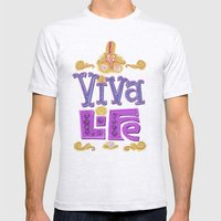 Viva Life! Mens Fitted Tee Ash Grey SMALL