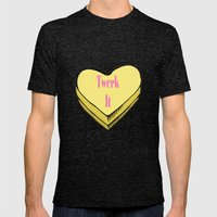 TWERK CANDY HEART Mens Fitted Tee Tri-Black SMALL