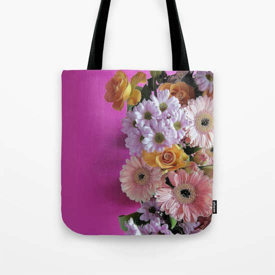 pink 'n flowers Tote Bag
