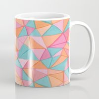 watercolor triangles Mug