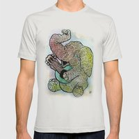 BELLOWPHANT Mens Fitted Tee Silver SMALL