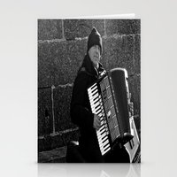 Accordion Busking on Howth Bay Stationery Cards