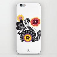 Indhi Swan iPhone & iPod Skin