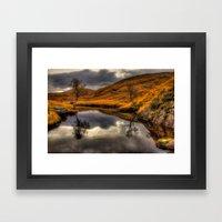 The Pool of Autumn Framed Art Print