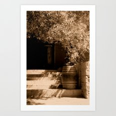 Sunny Summer steps Art Print