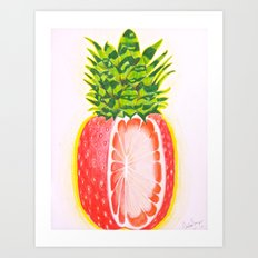 Pineberry Melonfruit Art Print