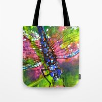 Title: painting - Dragonfly Tote Bag