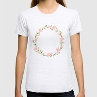 Flowers Womens Fitted Tee Ash Grey SMALL