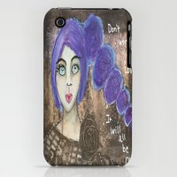 iPhone Cases featuring Don't Worry My Love by Leanne Schuetz Mixed Media Artist