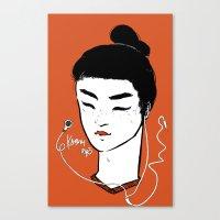 Kabuki.mp3 Canvas Print