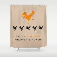 Smarter Chicken - Orange… Shower Curtain