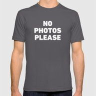 No Photos Please Mens Fitted Tee Asphalt X-LARGE
