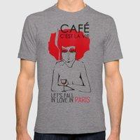 Café C'est La Vie - Par… Mens Fitted Tee Tri-Grey SMALL