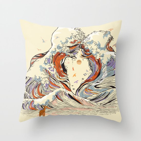 The Wave of Love Throw Pillow