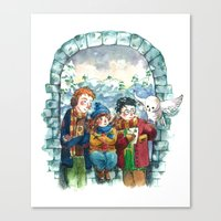 Golden Trio Canvas Print