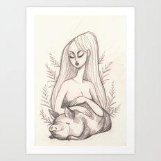 Swine Guardian Art Print