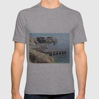 Lifeboat Station, Cornwall Mens Fitted Tee Athletic Grey SMALL