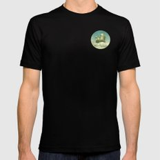 Never Stop Exploring Mens Fitted Tee Black SMALL