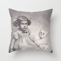 Her Blue Shoes Throw Pillow