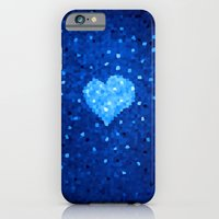 Winter Blue Crystallized Abstract Heart iPhone 6 Slim Case