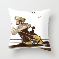 The Long Journey Down Th… Throw Pillow