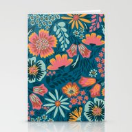 Stationery Cards featuring Floral  by Yellow Button Studio