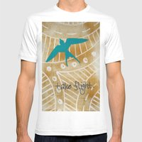 Take Flight Mens Fitted Tee White SMALL