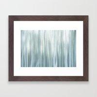 Frost In Woods Framed Art Print