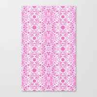 Hot Pink Lace Canvas Print