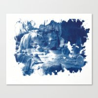 Cyanotype Polar Bear Canvas Print