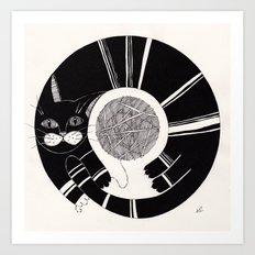 cats life: playing Art Print