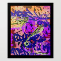 Turntables And A Mic (or… Art Print