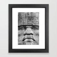 Olmec Man - Ancient Olme… Framed Art Print