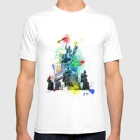 ABSTRACT - MONUMENT OF ST. WENCESLAS, PRAGUE Mens Fitted Tee White SMALL