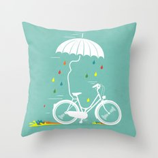 I want to ride my bike ! Throw Pillow