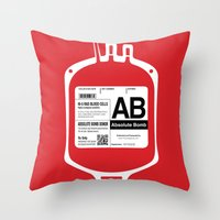 My Blood Type Is AB, For… Throw Pillow