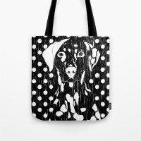 Dog and dot Tote Bag