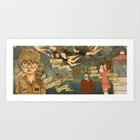 moonrise kingdom Art Prints featuring Moonrise Kingdom by Anne Lambelet