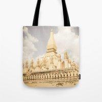 Pha That Luang Temple Tote Bag