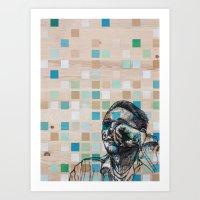 Checker Face Art Print