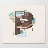 Resort Type - Letter P Canvas Print