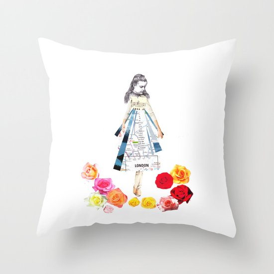 Lost by some roses Throw Pillow