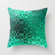 Wobbly Dots Light In Min… Throw Pillow
