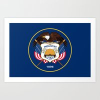 Utah State Flag - Authen… Art Print