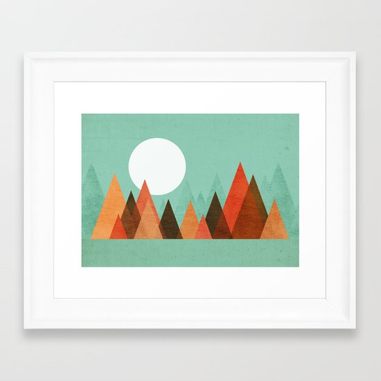 From the edge of the mountains Framed Art Print