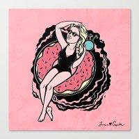 Floating Girl II Canvas Print