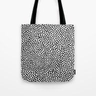 Tote Bag featuring Black Triangles by Georgiana Paraschiv