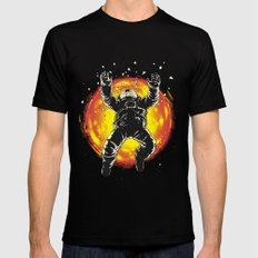 Lost in the space Black Mens Fitted Tee SMALL