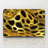 Voronoi Gold Surface iPad Case