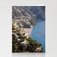 Positano Italy Harbor - Mediterranean Sea Stationery Cards